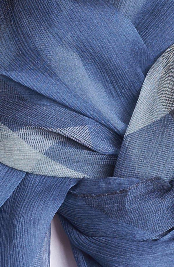 Alternate Image 2  - Burberry Check Print Silk Crepon Scarf