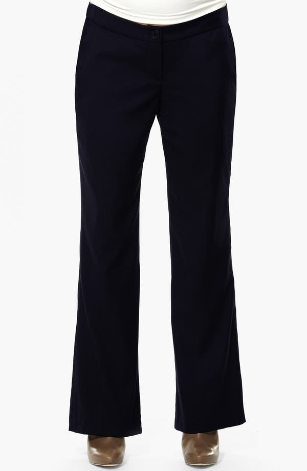 Alternate Image 1 Selected - Eva Alexander London 'Morgan' Tailored Maternity Pants
