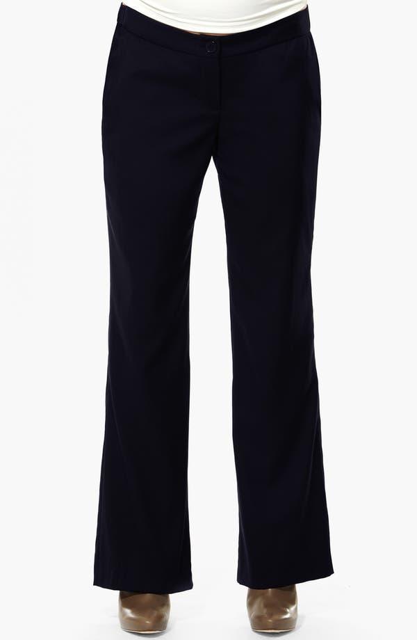 London 'Morgan' Tailored Maternity Pants,                         Main,                         color, Navy