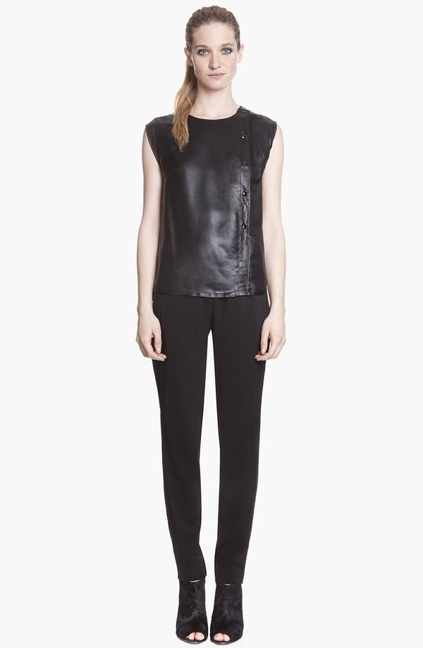 Main Image - sandro 'Eclore' Coated Sleeveless Top