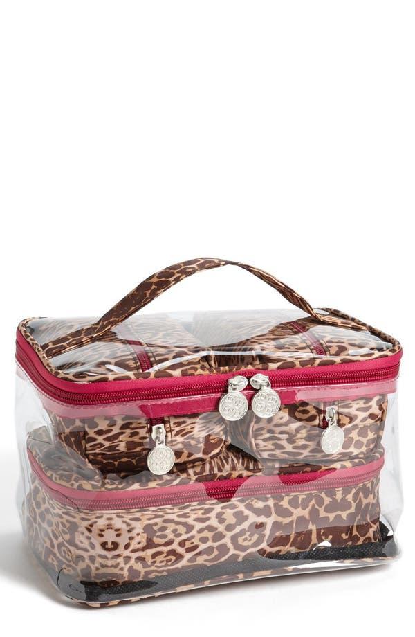 Main Image - Tri-Coastal Design 'Leopard' Print Cosmetics Case (Set of 4)