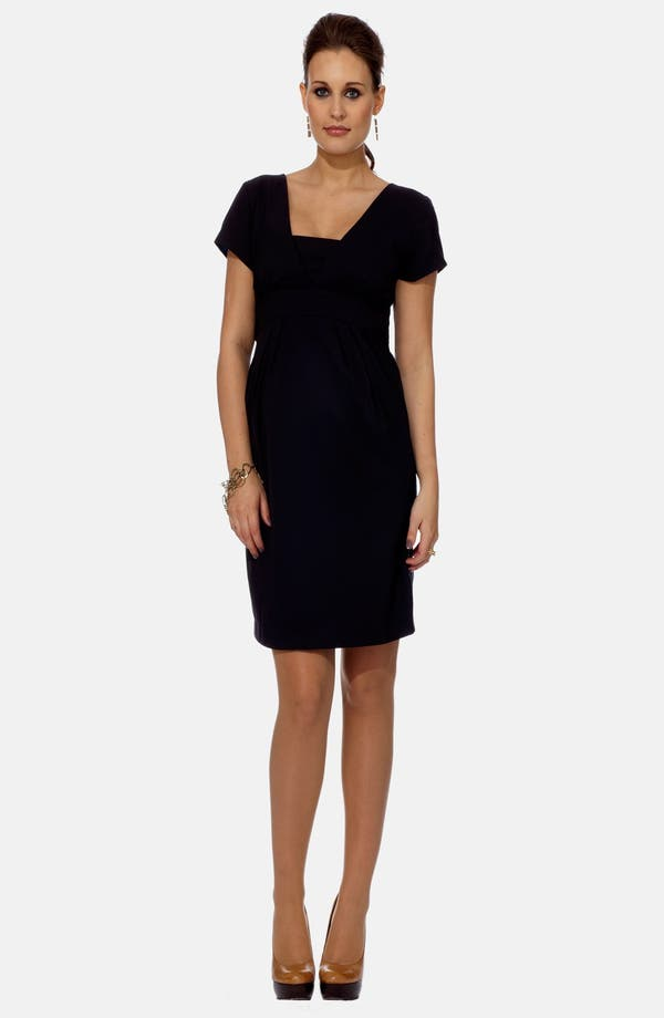 London Tailored Maternity Dress,                             Main thumbnail 1, color,                             Navy