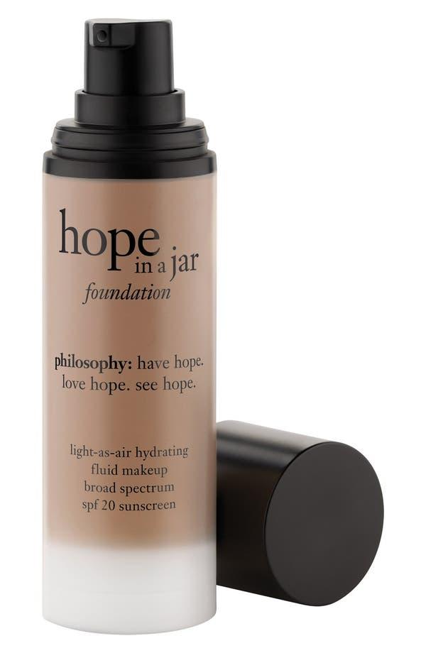 Main Image - philosophy 'hope in a jar' light-as-air hydrating fluid foundation SPF 20