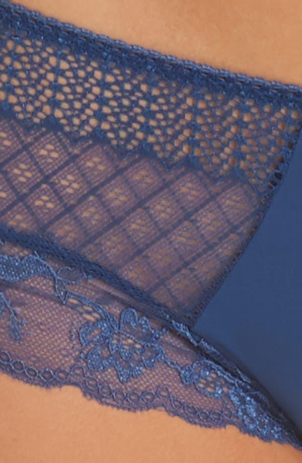 Alternate Image 8  - Honeydew Microfiber & Lace Hipster Panties (3 for $33)