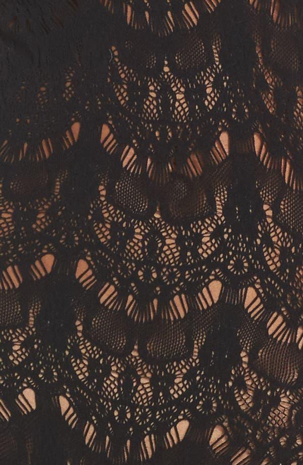 Femme Bonita Cold Shoulder Lace Bodysuit,                             Alternate thumbnail 6, color,                             Black