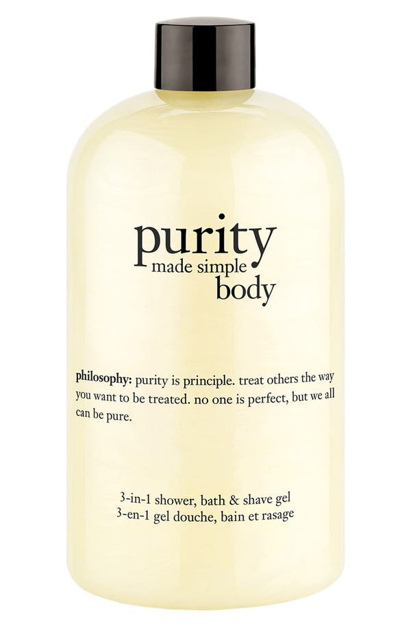 'purity made simple body' 3-in-1 shower, bath & shave gel,                         Main,                         color, No Color