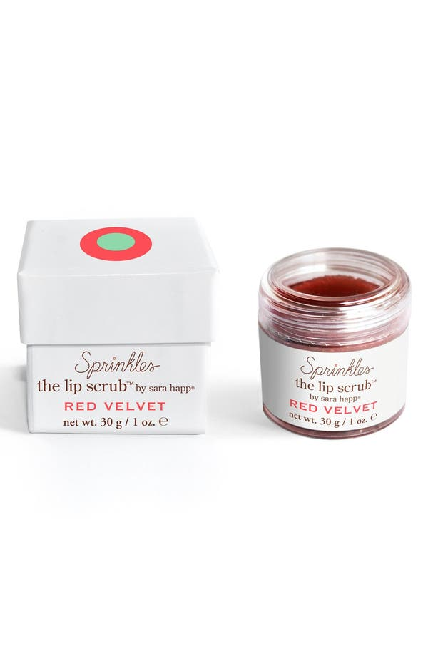 The Lip Scrub<sup>™</sup> Sprinkles Red Velvet Lip Exfoliator,                             Main thumbnail 1, color,                             No Color