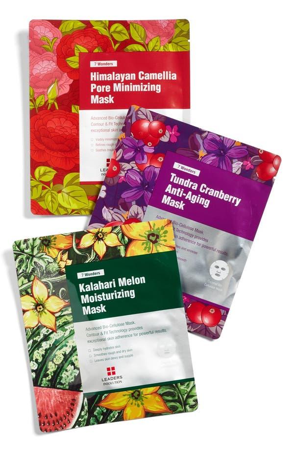 Main Image - Leaders Cosmetics 7 Wonders 3-Pack Sheet Masks