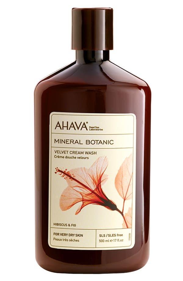 Main Image - AHAVA 'Hibiscus & Fig' Mineral Botanic Velvet Cream Wash for Very Dry Skin