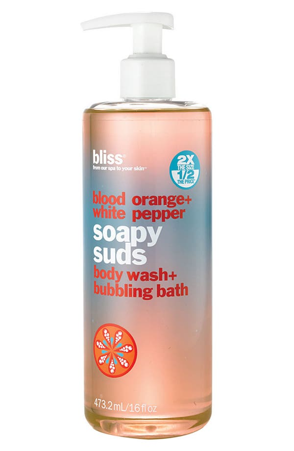 Main Image - bliss® 'Blood Orange + White Pepper Soapy Suds' Body Wash + Bubbling Bath ($36 Value)