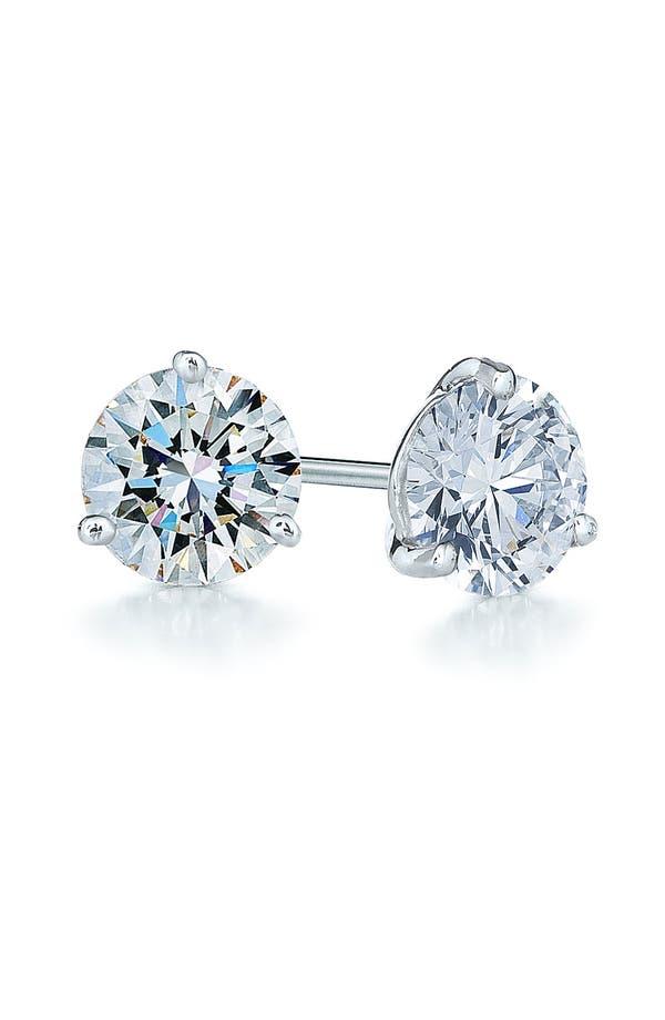1.50ct tw Diamond & Platinum Stud Earrings,                         Main,                         color, Platinum