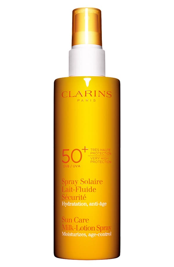 Alternate Image 1 Selected - Clarins Sun Care Milk-Lotion Spray SPF 50+