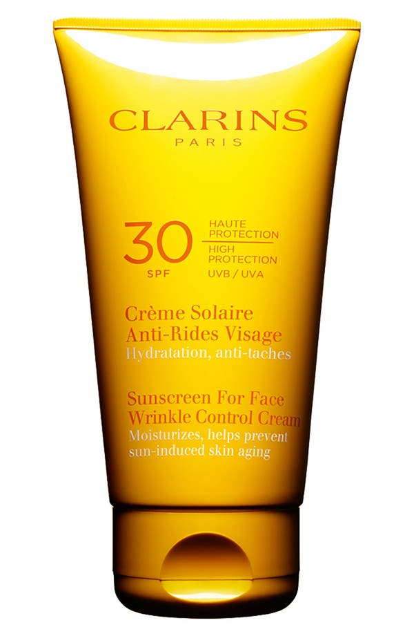 Main Image - Clarins 'Sunscreen for Face' Wrinkle Control Cream SPF 30