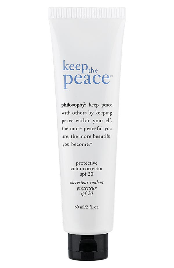 Main Image - philosophy 'keep the peace' protective color corrector spf 20