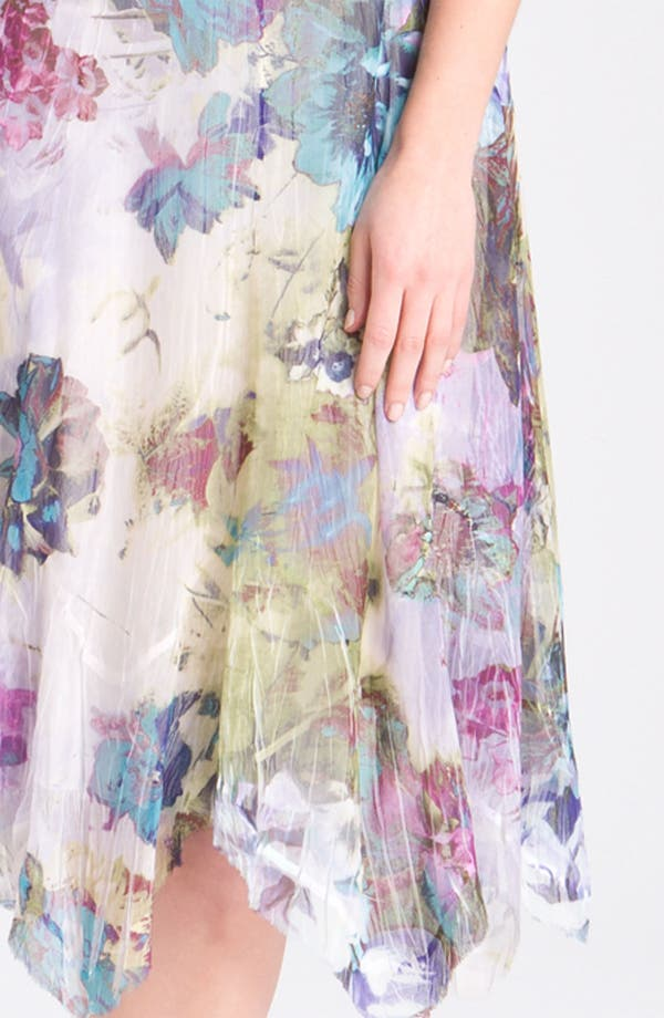 Alternate Image 3  - Komarov Floral Print Cap Sleeve Pleated Dress