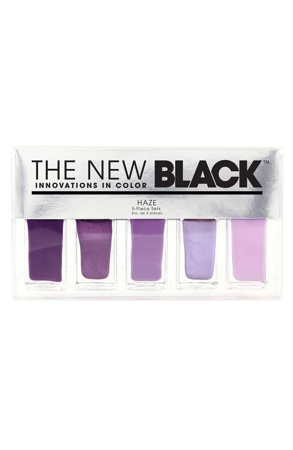 Alternate Image 1 Selected - THE NEW BLACK 'Haze - Ombré' Nail Polish 5-Piece Set