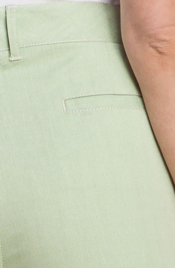 Alternate Image 3  - Lafayette 148 New York 'Static Stripe' Cuffed Crop Pants