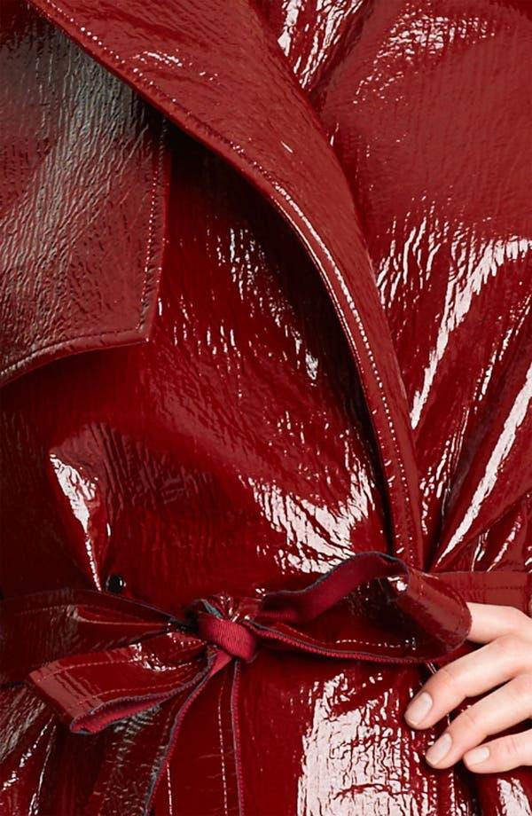 Alternate Image 3  - Lanvin Belted Crackle Patent Trench Coat