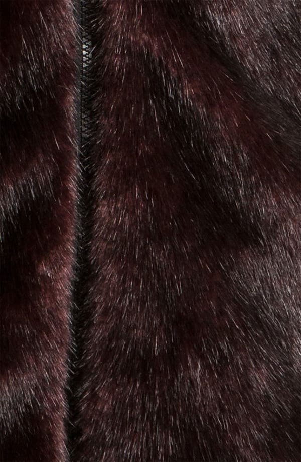 Alternate Image 4  - Gallery Reversible Faux Fur Vest (Plus) (Online Exclusive)
