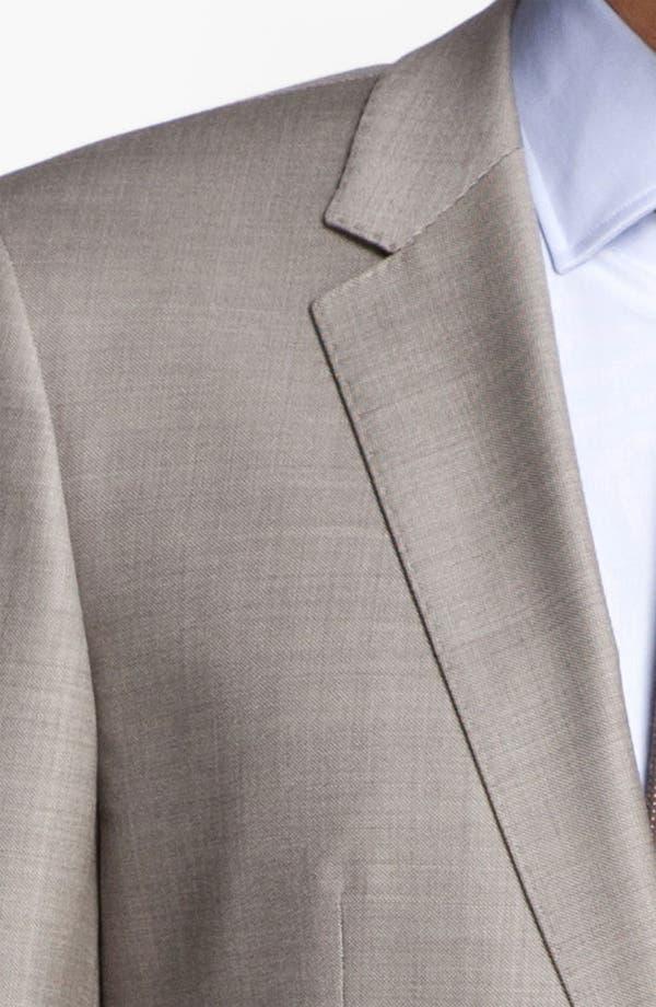 BOSS Black 'James/Sharp' Trim Fit Wool Suit,                             Alternate thumbnail 6, color,                             Medium Beige