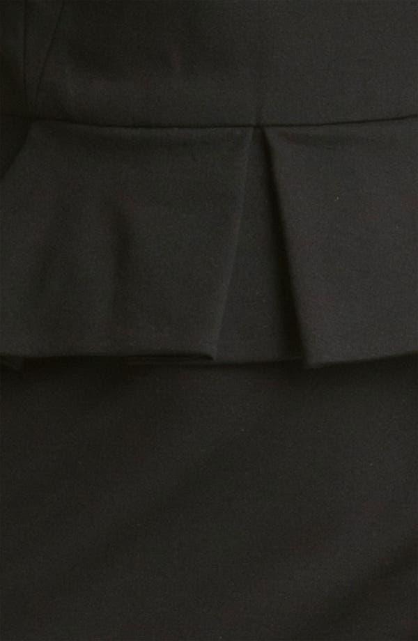 Alternate Image 4  - Cynthia Steffe 'Dylan' Leather Yoke Peplum Sheath Dress (Online Exclusive)
