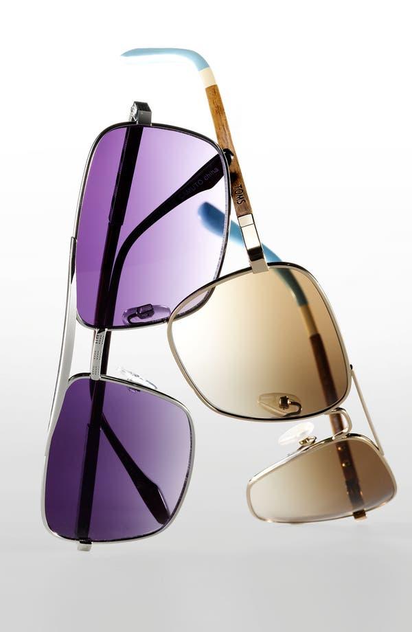 Alternate Image 2  - TOMS 58mm Navigator Sunglasses
