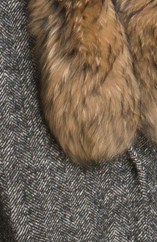 Alternate Image 3  - Elizabeth and James 'Valentia' Herringbone Coat with Removable Fur Collar
