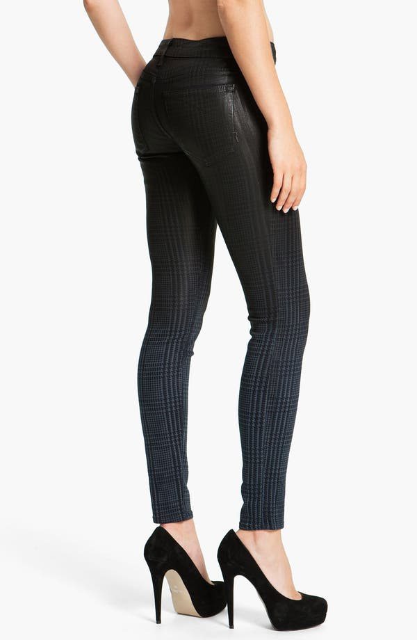 Alternate Image 2  - Rich & Skinny 'Legacy' Coated Skinny Jeans (Oil Plaid)