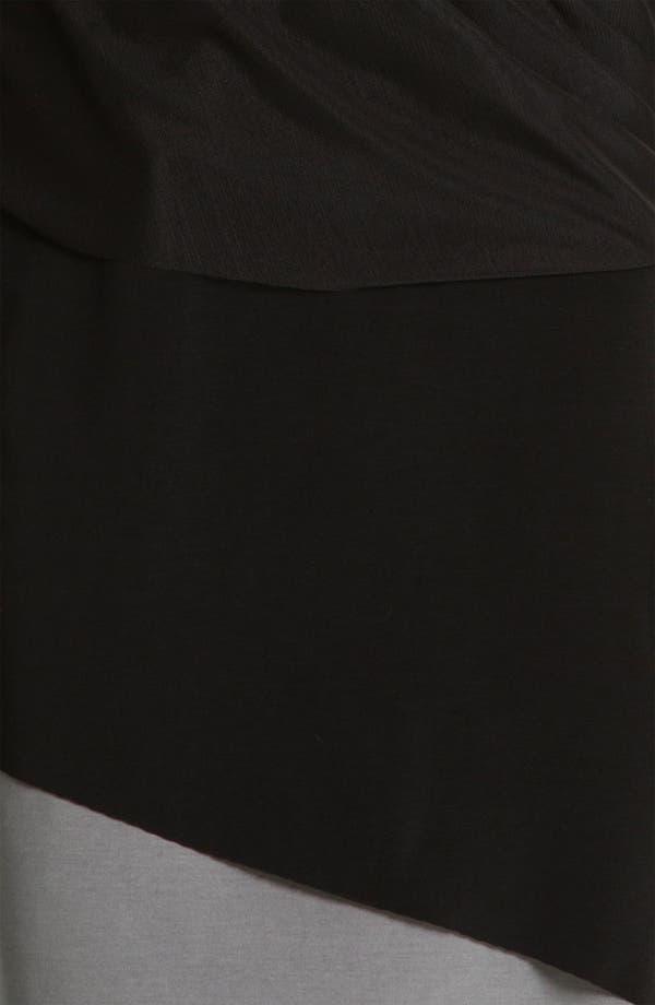Alternate Image 3  - Alex & Ava Surplice Mesh & Jersey Dress