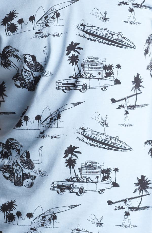 'Hawaii' All Over Print T-Shirt,                             Alternate thumbnail 3, color,                             Blue
