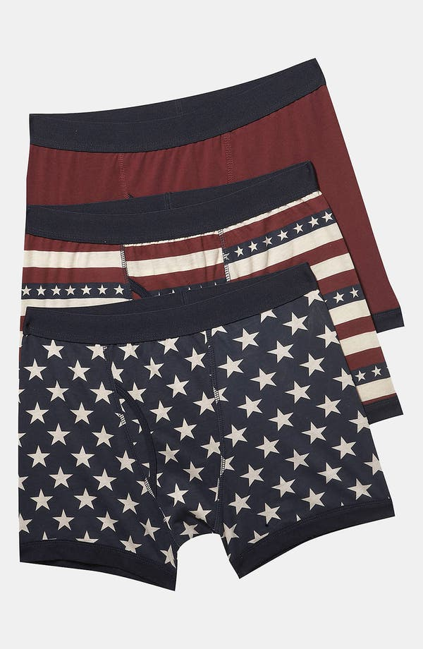 Alternate Image 1 Selected - Topman 'The Americas' Boxer Briefs (3-Pack)