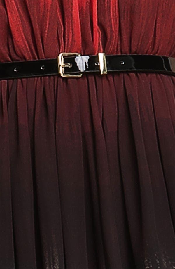 Alternate Image 3  - Calvin Klein Gradient Print Belted Chiffon Dress