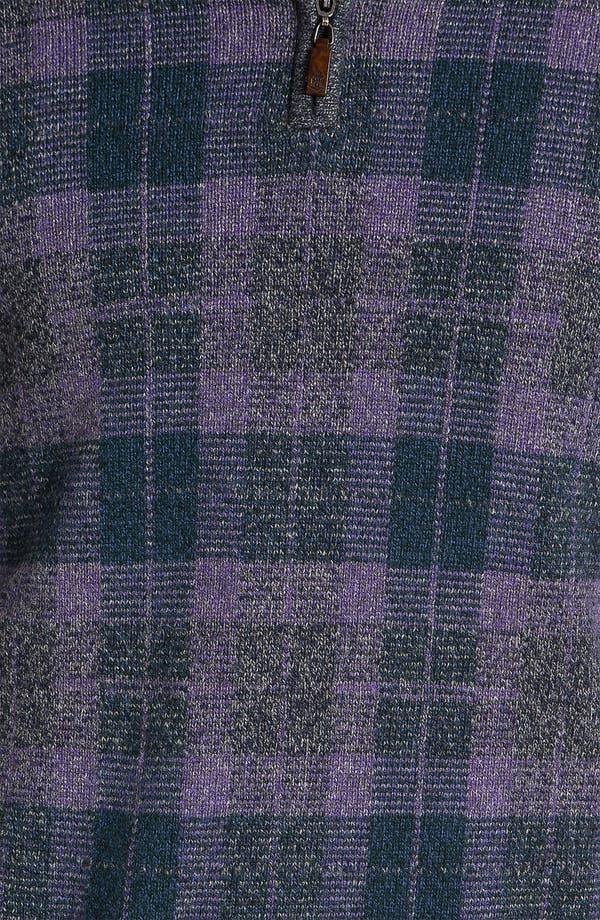 Alternate Image 3  - Robert Talbott Half Zip Sweater