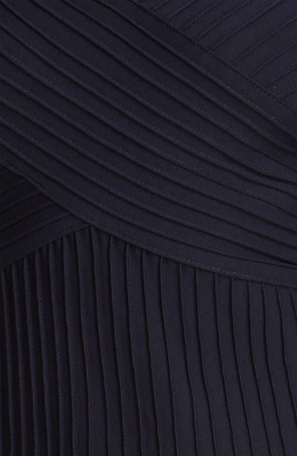 Alternate Image 3  - Tadashi Shoji V-Neck Tulle Trim Fit & Flare Dress