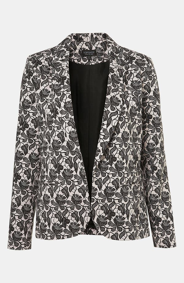 Alternate Image 1 Selected - Topshop Lace Blazer