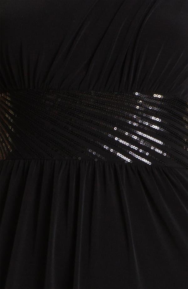 Alternate Image 3  - Calvin Klein Sequin Waist One Shoulder Jersey Gown