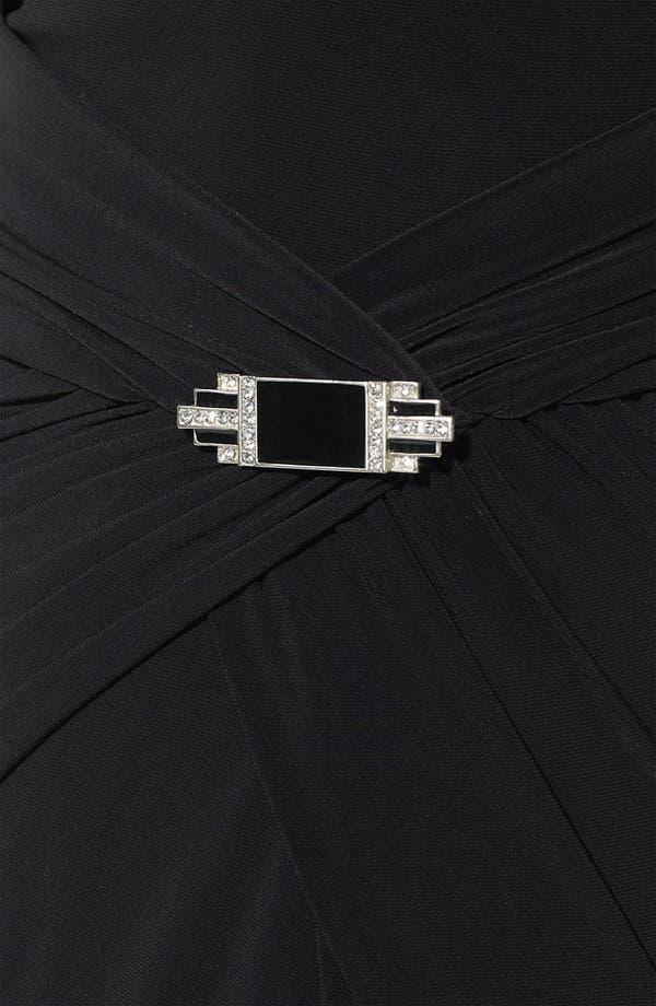 Alternate Image 3  - Lauren Ralph Lauren Gathered Mock Neck Jersey Gown