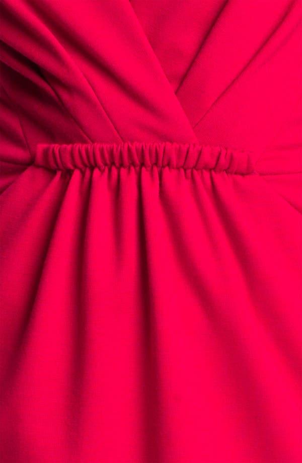 Alternate Image 3  - Carmen Marc Valvo Deep-V Knit Sheath Dress