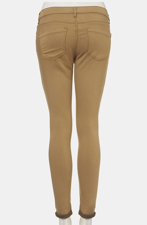 Alternate Image 2  - Topshop Moto 'Leigh' Skinny Jeans (Tobacco) (Petite)