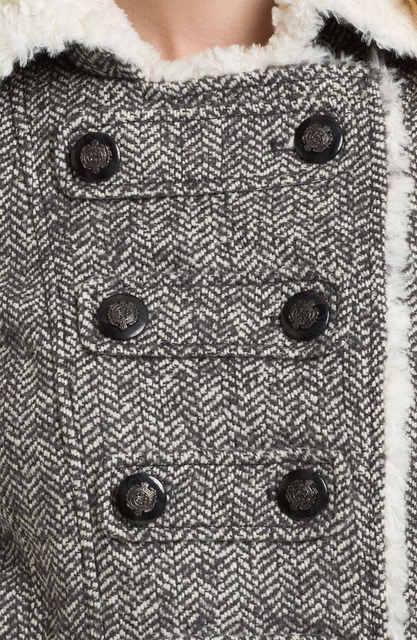 Alternate Image 3  - GUESS Faux Shearling Fur Trim Peacoat (Online Exclusive)