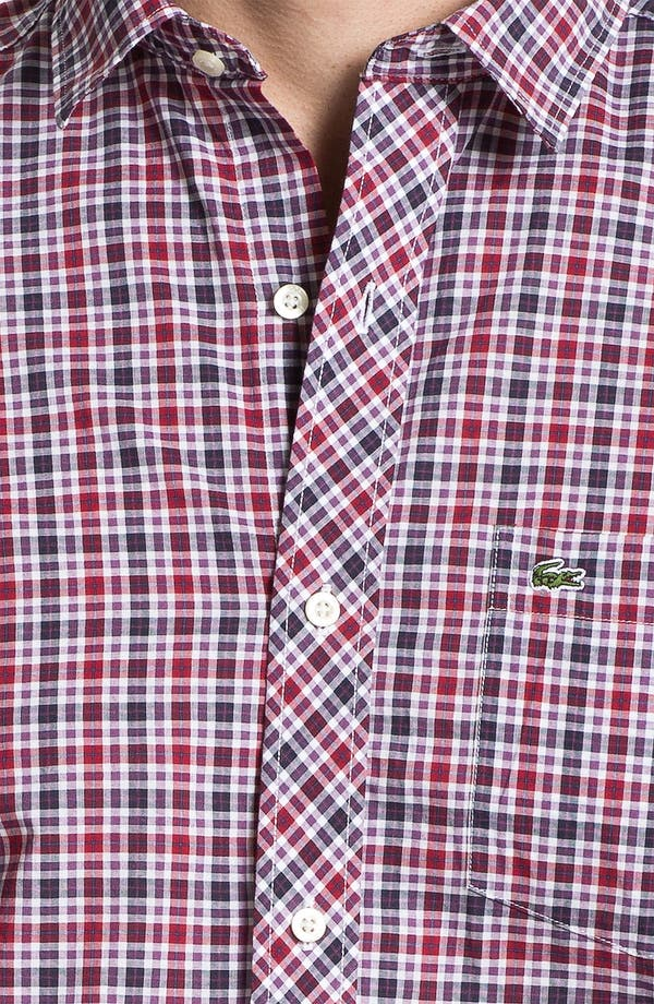 Alternate Image 3  - Lacoste Slim Fit Plaid Sport Shirt