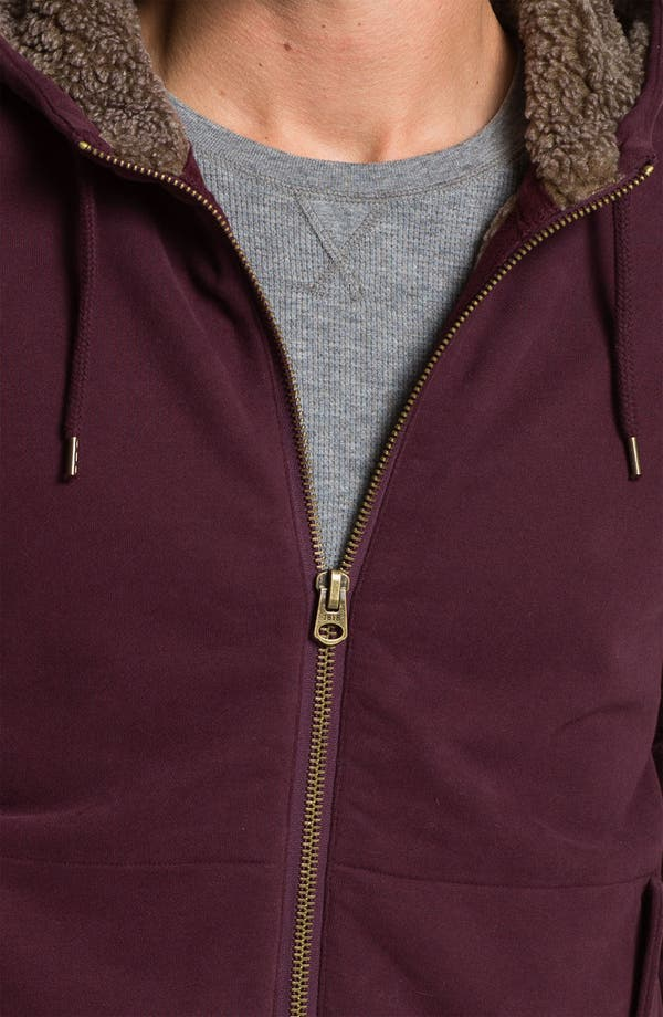 Alternate Image 3  - Brooks Brothers Zip Hoodie with Faux Shearling Lining