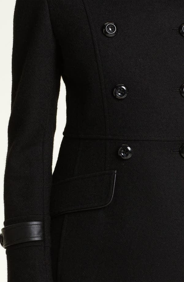 Alternate Image 3  - Kristen Blake Leather Trim Coat