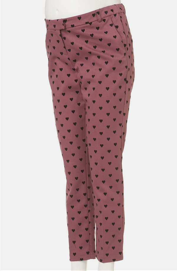 Alternate Image 2  - Topshop Flocked Heart Maternity Trousers