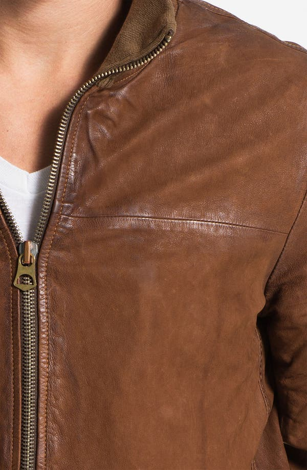 Alternate Image 3  - Scotch & Soda Leather Bomber Jacket