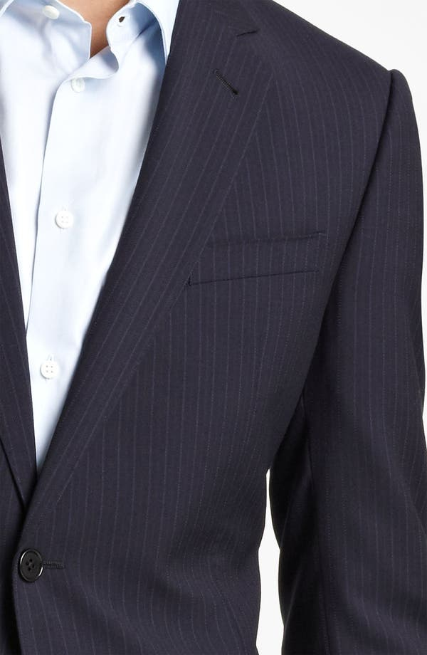 Alternate Image 6  - Armani Collezioni Trim Fit Stripe Suit