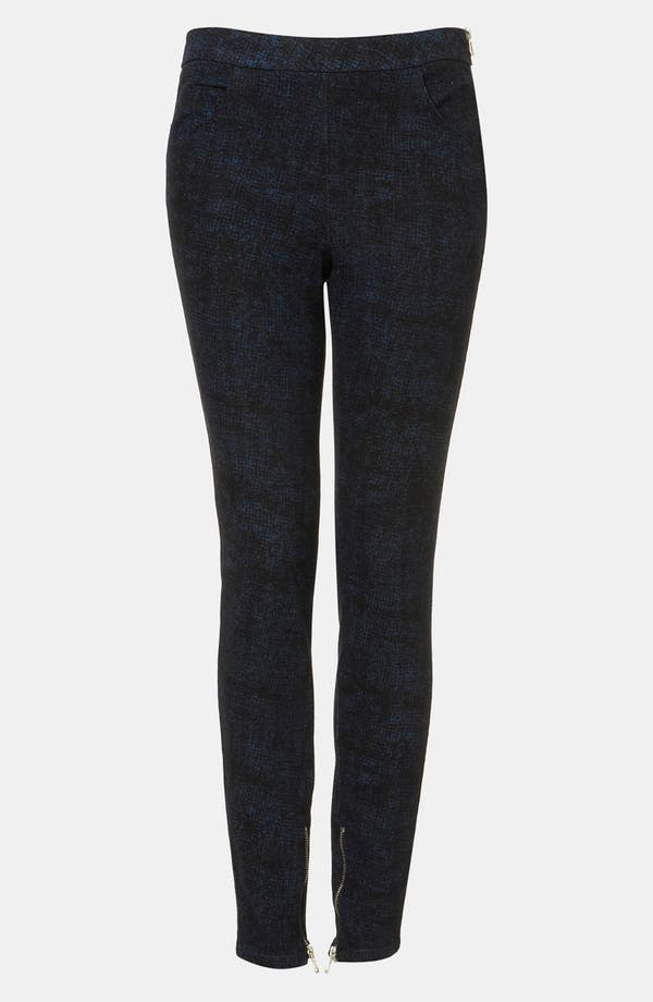 Main Image - Topshop Sketch Print Skinny Pants