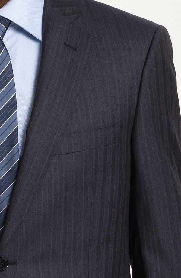 Alternate Image 6  - Pal Zileri Trim Fit Stripe Suit