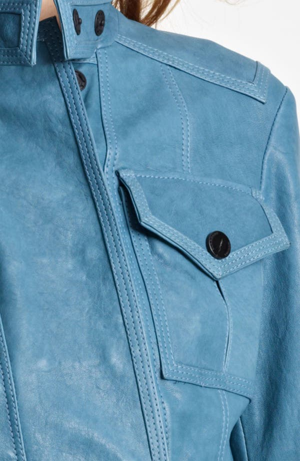 Alternate Image 3  - Burberry London Cargo Pocket Crop Leather Jacket