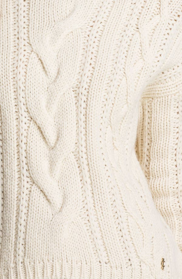 Alternate Image 3  - Juicy Couture Chunky Cable Turtleneck Sweater